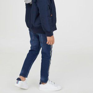 H&M Relaxed Fit Distressed Tapered Jeans